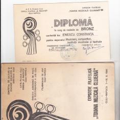 Bnk fil Expozitia filatelica Toamna muzicala clujeana 1986