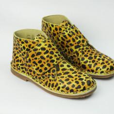 Incaltminte copii piele - Pantofi copii, Culoare: Galben, Roz, Marime: 24, 35, Unisex, Piele naturala