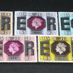ANGLIA 1977 – REGINA ELISABETA II, JUBILEUL DE ARGINT, serie nestampilata B163 - Timbre straine