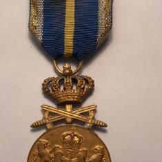 Medalia Serviciu Credincios Cu spade Clasa I - Ordin
