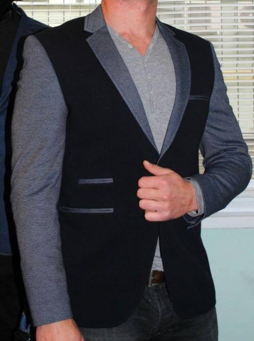 Sacou barbati in 2 culori / cambrat Scouri ocazie  model primavara 2015 foto mare