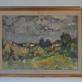 "Teodor Harsia, ""Dupa ploaie"", ulei, panza, semnat dreapta jos - Pictor roman, Peisaje"