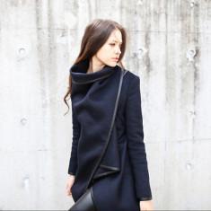 Palton Dama Superb Fashion Sezon Primavara Toamna Design Exclusive|VANZATOR GOLD, Marime: XXL, XL, L, M, S, Culoare: Bleumarin, Casmir