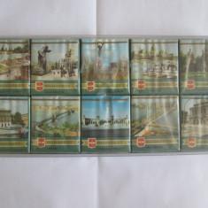 RARISIM! SET 10 PACHETE TIGARI COLECTIE BUDAPESTA EDITIE LIMITATA ANII 70 - Pachet tigari