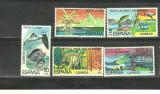 SPANIA 1978 - PROTEJAREA NATURII, FAUNA AI FLORA, serie nestampilata  B10, Natura, Nestampilat