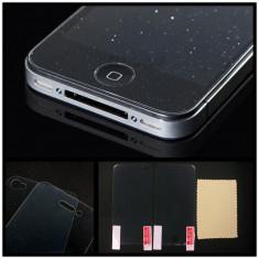 Folie iPhone 4 4S Transparenta DIAMOND fata spate - Folie de protectie Apple