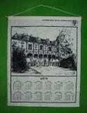 Calendar material textil 1979 Gladbacher Textil-Veredlung, de perete, 56x47 cm