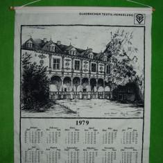 Calendar material textil 1979 Gladbacher Textil-Veredlung, de perete, 56x47 cm - Calendar colectie