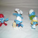Strumfi, smurfs - 5 figurine mari strumf din cauciuc - set 11