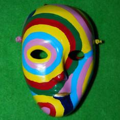 masca ceramica tip Venezia, colorata, 15x10 cm, de agatat pe perete, decor