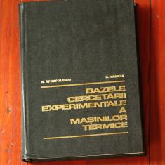 carte -- Bazele cercetarii experimentale a masinilor termice - 1979 - 510 pagini