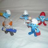 Strumfi, smurfs - 5 figurine mari strumf din cauciuc - set 12