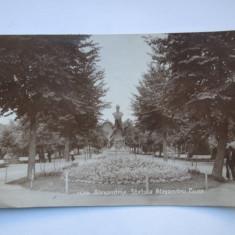 Alexandria - Statuia Alexandru Ioan Cuza - Carte Postala Muntenia dupa 1918, Circulata