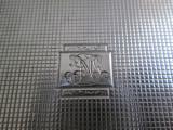 Tabachera veche de argint masiv , gravata manual , gravura manuala , monograma