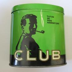 RARITATE! CUTIE TABLA CLUB-CONTINE TUTUNUL ORIGINAL PIPA-FABRICAT CLUJ ANII 60