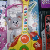 Chiatara iepuras cu muzica si butoane - Instrumente muzicale copii