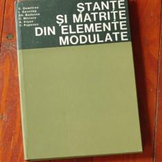 Carte - Stante si matrite din elemente modulate - Ed. Tehnica 1980 - 272 pagini - Roman