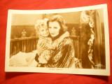 Ilustrata- Personalitati -Fotografie- Greta Garbo cu copil , interbelica