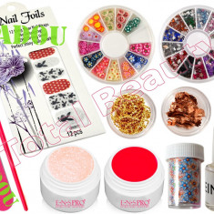 Kit Unghii false Fraulein38 cu Gel UV - Nail-Art special de sezon + CADOU