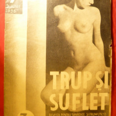 Revista -Trup si Suflet -5 iunie 1936 - Coperta cu nud - Revista casa