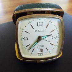 Ceas mecanic de calatorie Blessing / W Germany - Ceas de masa