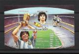 REPUBLICA CENTRAFRICANA 1986 FOTBAL CUPA MONDIALA-NEDANTELAT COTA MICHEL 20 EURO