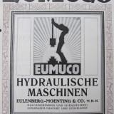 Prospect Eumuco Nr.1059-Hydrauliche Maschinen Eulenberg-Moenting&Co.(interbelic) - Carti Mecanica