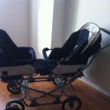 Carucior gemeni Inglesina, scaunele auto, carucior Twin Swift