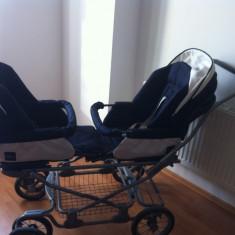 Carucior gemeni Inglesina, scaunele auto, carucior Twin Swift, Pliabil