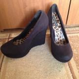 Pantofi Atmosphere cu talpă ortopedică, piele întoarsă, mărimea 38 - Pantof dama, Culoare: Din imagine