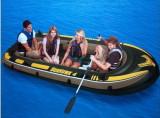 Barca gonflabila Seahawk IV, 4 persoane, Intex , cu vasle si pompa incluse