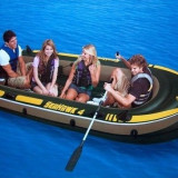 Barca gonflabila Seahawk IV, 4 persoane, Intex, cu vasle si pompa incluse - Barca Pescuit