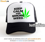 SAPCA, SEPCI TRUCKER, cu plasa, snapback - KEEP CALM AND SMOKE WEED - exclusiv !