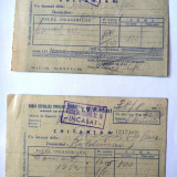 Lot de 2 chitante emise de BNR in 1952 - foarte rar !!