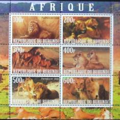 BURUNDI 2009 - LEI DIN AFRICA, 1 M/SH NEOBLITERATA, POSTA PRIVATA - PP 016