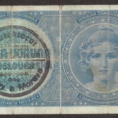 BOEMIA SI MORAVIA 1 COROANA KORUNA 1939 ( 1940 ) ND [1] P-1 - bancnota europa