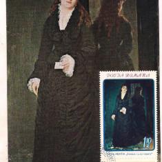 %ilustrata maxima-SAVA HENTIA-Femeia cu scrisoarea, An: 1971