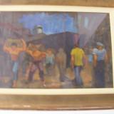 Tablou semnat HHC Catargi - Pictor roman, Scene gen, Ulei, Impresionism
