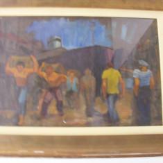 Tablou semnat HHC Catargi, Scene gen, Ulei, Impresionism
