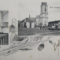 Biserica Reformata din Beius, Belenyes Bihor 1914. Piesa de colectie ! - Carte Postala Transilvania 1904-1918, Circulata, Fotografie