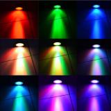 Spot Led RGB, 4W, Fasung MR16 inclus, 12V, cu Telecomanda IR 16 cu Alb inclus - Corp de iluminat EuropeAsia, Spoturi
