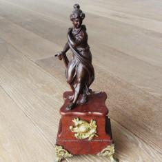 Veche statueta de bronz sec 19 - Sculptura