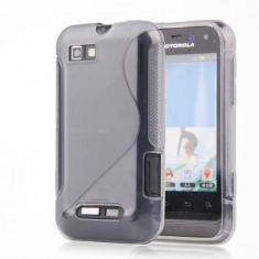 Husa Motorola Defy Mini XT320 Silicon Gel Tpu S-Line Gri + Folie Ecran Inclusa - Husa Telefon