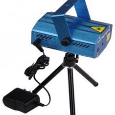 Laser disco cu microfon si senzor de sunet integrat + ventilator interior