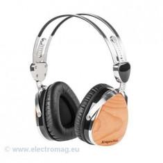 CASTI AUDIO KRUGER&MATZ (CIRES), Casti On Ear, Cu fir, Mufa 3, 5mm, Active Noise Cancelling