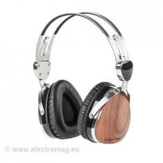 CASTI AUDIO KRUGER&MATZ (NUC NEGRU), Casti On Ear, Cu fir, Mufa 3, 5mm, Active Noise Cancelling