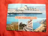 Ilustrata -Nave -Calabria - Nava Pasageri , circulat cu timbru-nava, Circulata