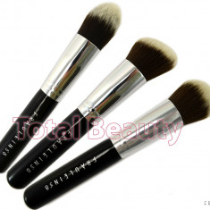 Trusa 3 pensule machiaj profesionale Fraulein38 Germania Kabuki Contur si Blend - Pensula machiaj