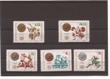 Bulgaria - serie 1972 Munchen Olympiade serie stampilate - MHN 2185-89