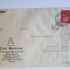RAR! PLIC 1944 EXPEDIAT DIN GERMANIA IN ROMANIA CU CENZURI NAZISTE SI EXTERNE, Circulata, Printata, Romania 1900 - 1950